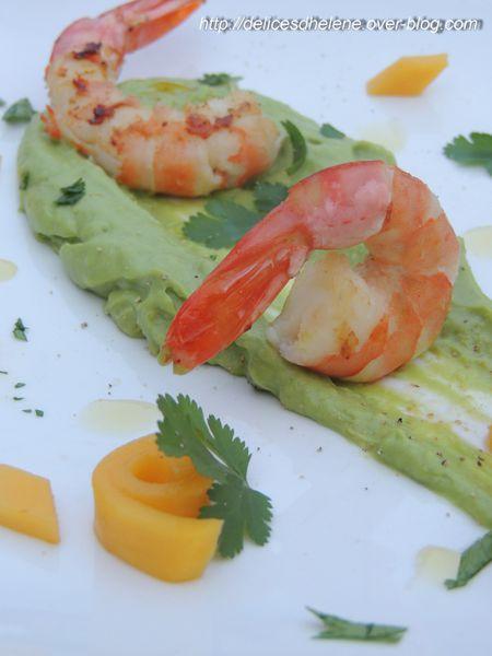 salade de crevettes, avocat et mangue (2)