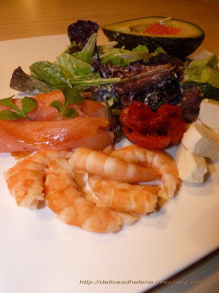 salade rafraîchissante aux crevettes