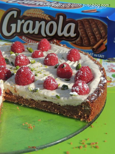 tarte sans tour, mascarpone, framboise, pistache (4)