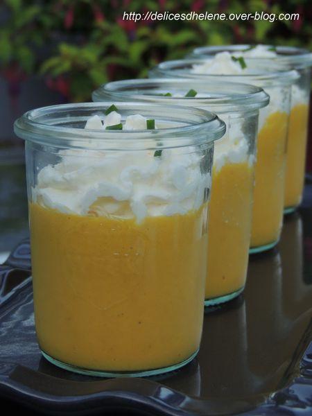 crème de carotte et mousse au fromage frais (2)