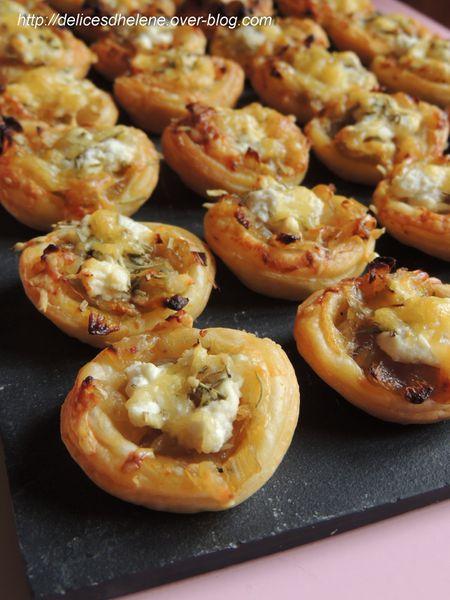 tartelettes aux oignons caramélisées et chèvre frais (1)