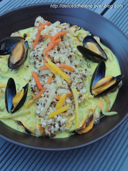 moules au curry et quinoa (2)