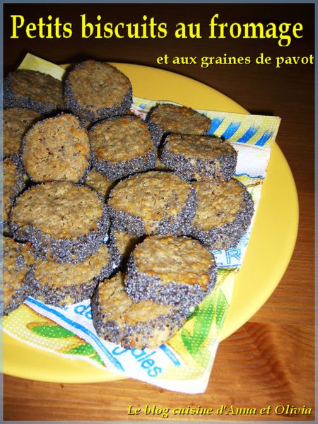 biscuits fromage pavots