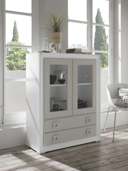 meuble laque 2 portes 2 tiroirs