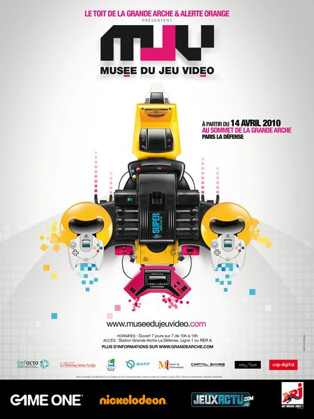 AFFICHE OFFICIELLE MUSEE DU JEU VIDEO