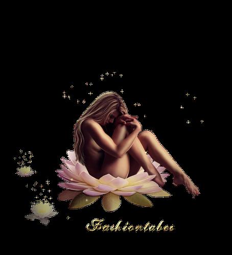 femme fleur lotus