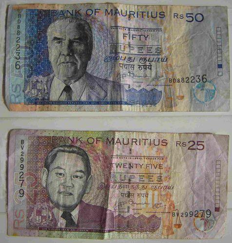 roupies mauritius 50 25