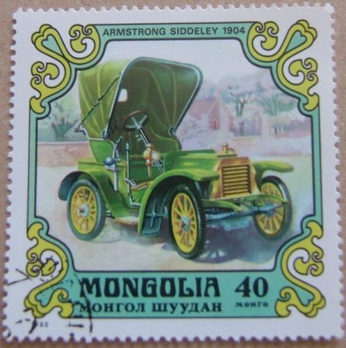armstrong siddeley 1904 timbre vieux tacot mongolie