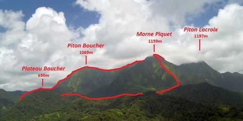 Piton Boucher - Morne Piquet