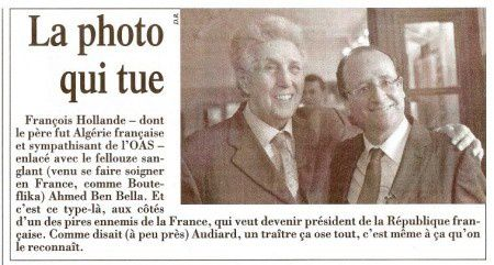 Ben Bella et Hollande La photo qui tue