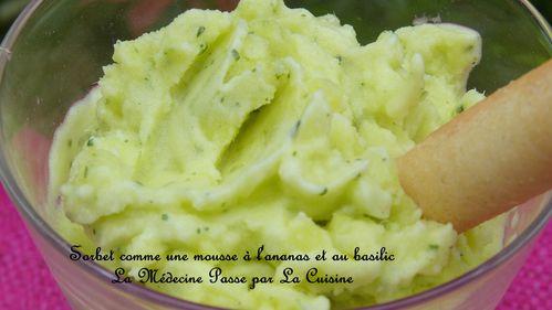 sorbet ananas basilic