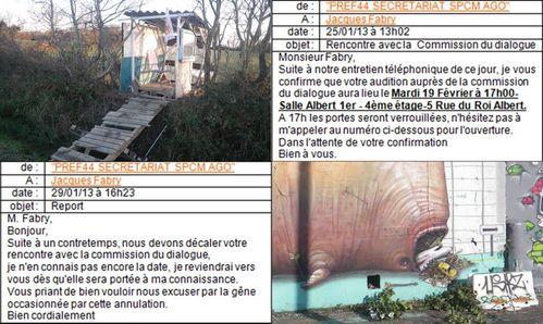 NDDL Nantes courriels sous préfet Mikaël Doré
