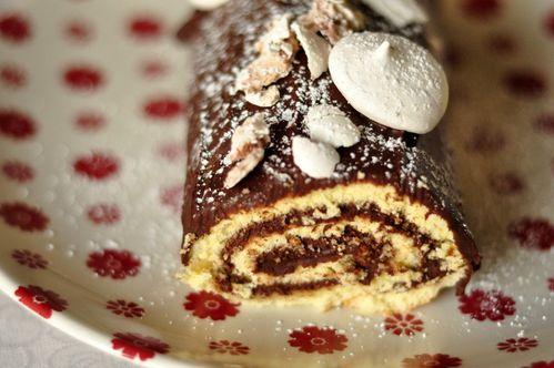Bûche au marron et au chocolat (1)