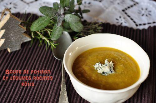 Soupe potiron légumes racines rôtis (3)
