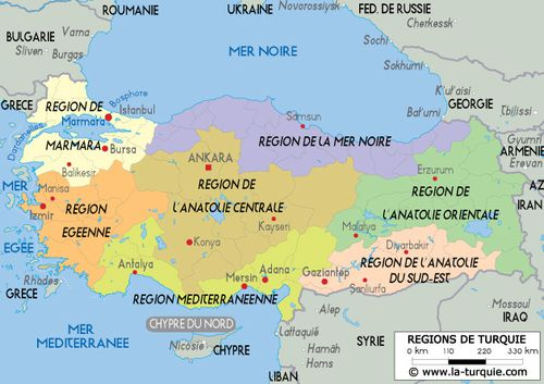 tr carte turquie regions