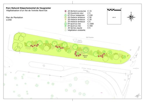 Parc Départemental de Vaugrenier Plan Plantations