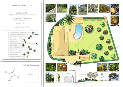 Villa Cap d'Antibes Plan Masse Paysager