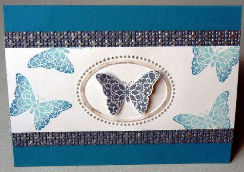 Carte papillon bleue 1