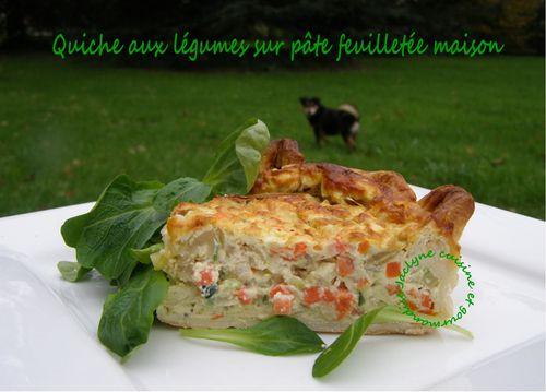 Quiche aux légumes sur pâte feuilletée maison Jaclyne cuisine et gourmandise