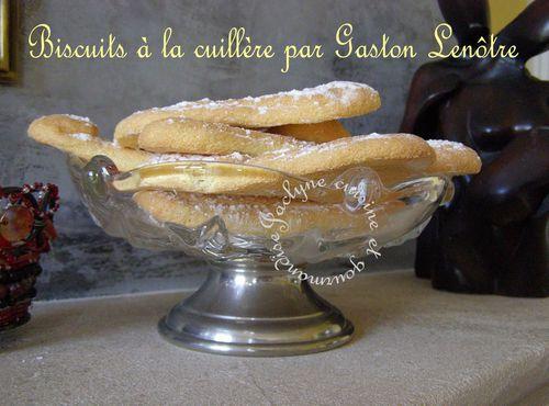 Biscuits à la cuillère par Gaston Lenôtre Jaclyne cuisine et gourmandise