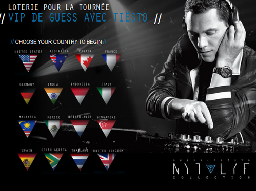Tiësto and Guess: Gagne 3 places VIP pour Tiësto Los Angeles 2013