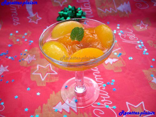 coupe fruit kaki abricot
