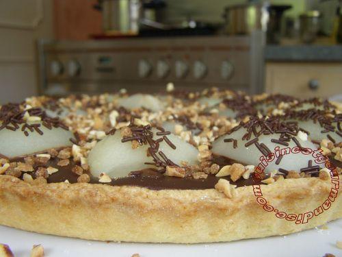 tarte chocolat poires de Jaclyne