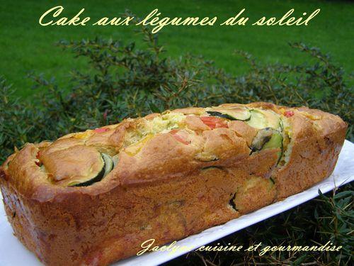 Cake aux légumes du soleil Jaclyne cuisine et gourmandise
