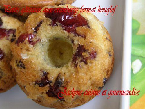 Petits gâteaux citronnés aux cranberry Format kouglof Jaclyne cuisine et gourmandise