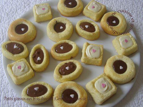 Petits gâteaux aux trois chocolats Genre barquettes de LU Jaclyne cuisine et gourmandise