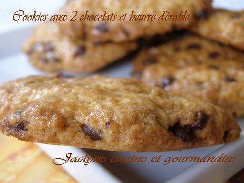 Cookies aux deux chocolats et beurre d'érable Jaclyne cuisine et gourmandise