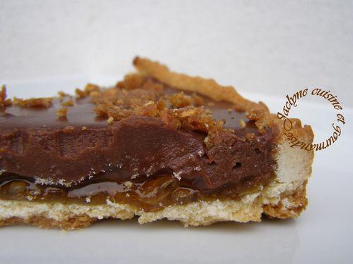 tarte aux deux chocolat Saveur orange Jaclyne cuisine et gourmandise