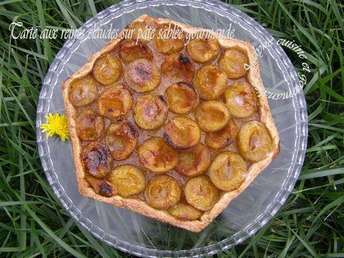 Tarte exagonale aux reines claudes et pâte sablée gourmande Jaclyne cuisine et gourmandise