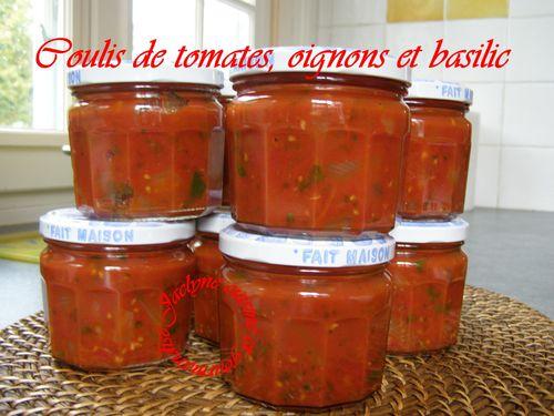 Coulis de tomates, oignons et basilic De bonnes conserves pour l' hiver ♥ Jaclyne cuisine et gourmandise