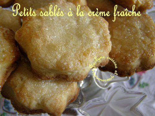 Petits sablés à la crème fraîche Vive les restes Jaclyne cuisine et gourmandise