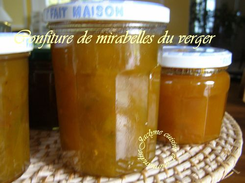Confiture de mirabelles du verger, aux zestes de citron Jaclyne cuisine et gourmandise