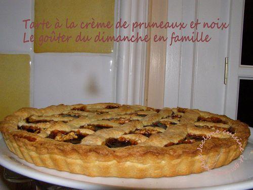 Tarte à la crème de pruneaux et noix Le goûter du dimanche en famille Jaclyne cuisine et gourmandise