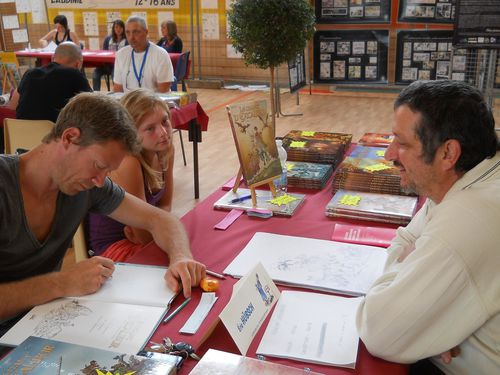 131 Juillet 2012 Festival BD La Fouillade Eric Hubsch et He