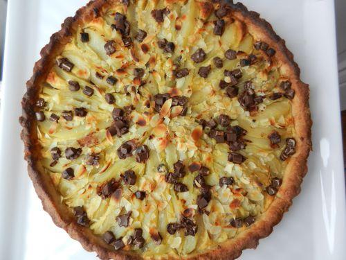 tarte amandine poire choc (3)