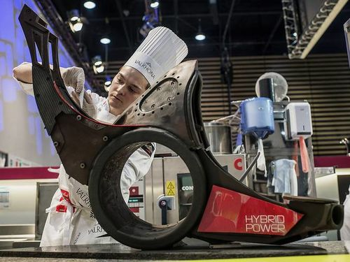 Quentin Bailly won the Pastry World Cup 2013 in Lyon, Franc