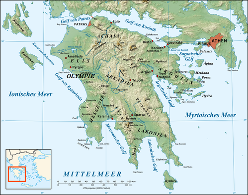 766px-Peloponnese relief map-de[1]
