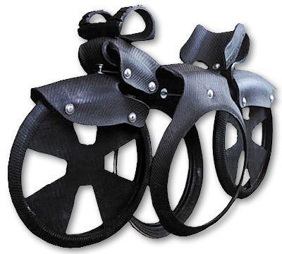 Balançoire en pneus moto