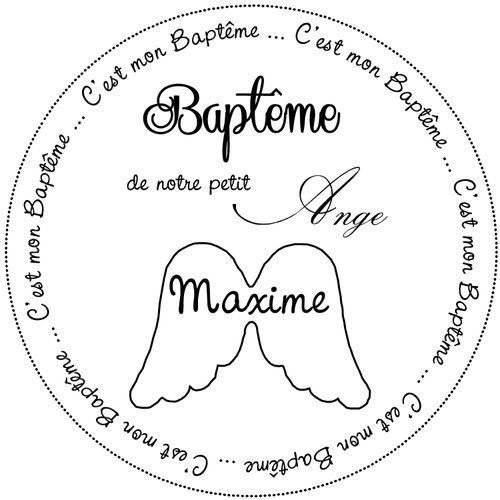 tampon baptême adeline