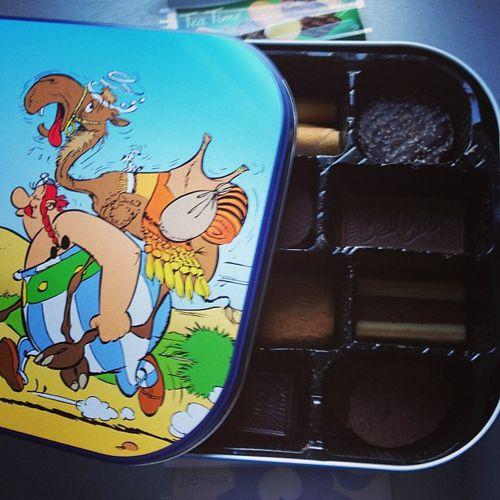 boite biscuits delacre asterix tea time