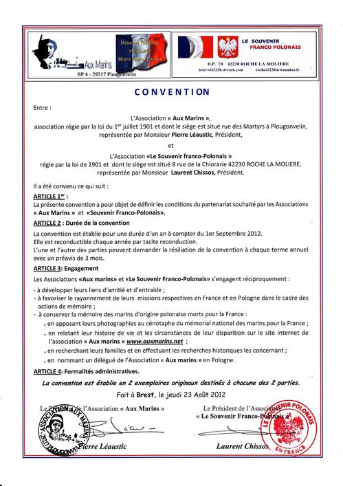 convention signée