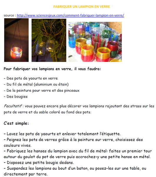 Fabriquer un lampion en verre
