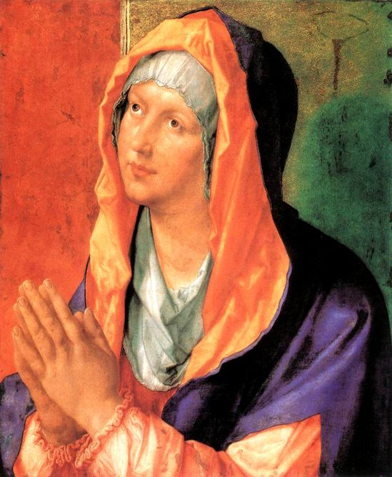 vierge marie prie