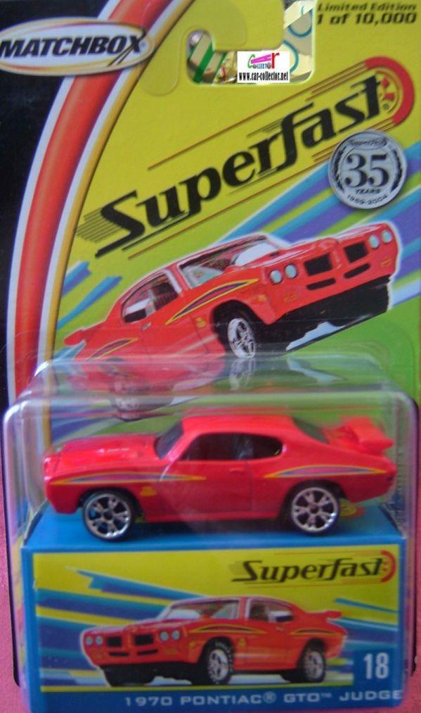 pontiac gto judge 1970 matchbox superfast 2004