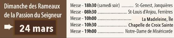Rameaux horaires 2013