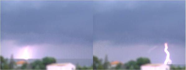 orage aviocorde Provence foudre simple large